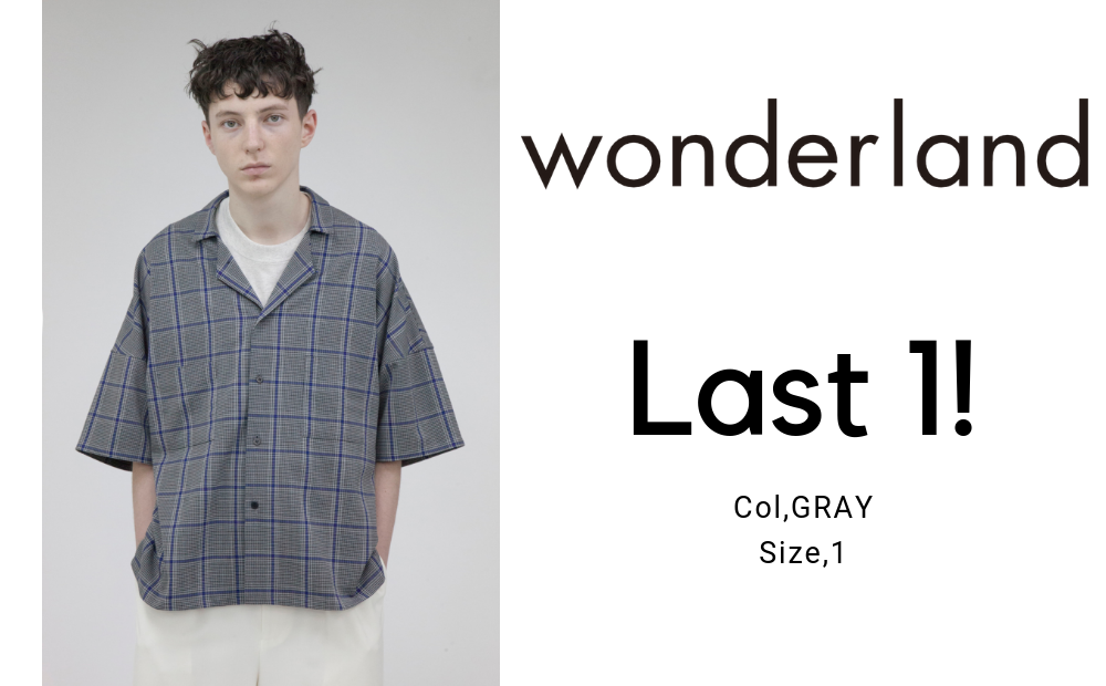 【wonderland】open collar shirts