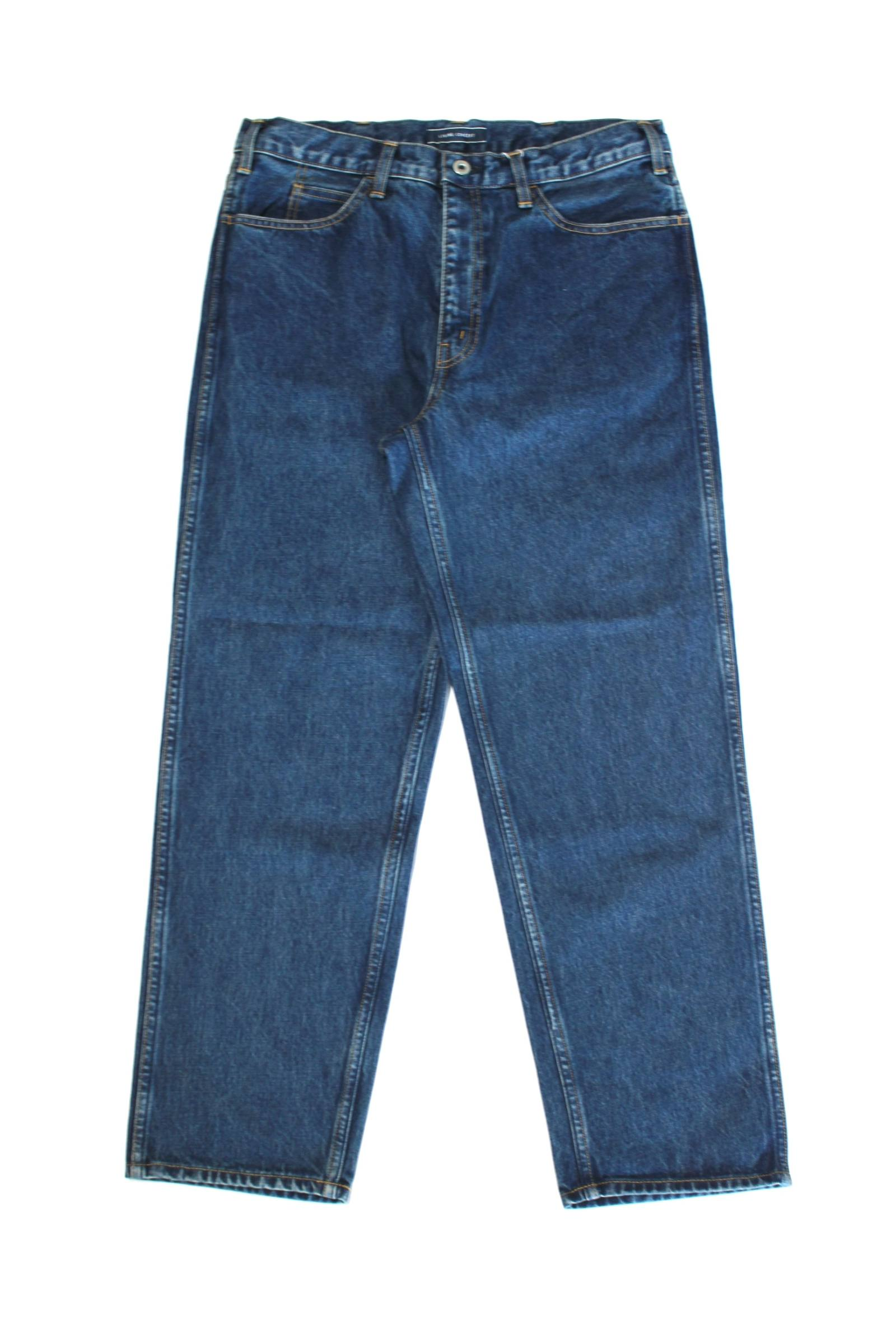 5POCKET WIDE DENIM PANTS(BIO WASH)/ワイドデニムパンツ